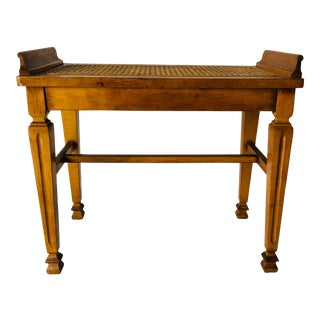 Hampson, Mintie & Abbott Maple Caned Bench Excellent For Sale