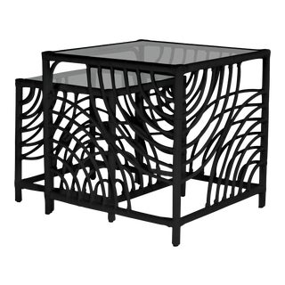 Swirl Nesting Tables - Black For Sale