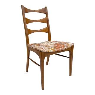 Mid-Century High Back Walnut Desk Chair For Sale