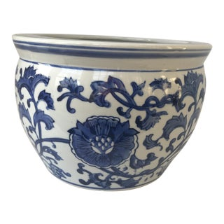 Blue & White Chinese Jardiniere Fish Bowl