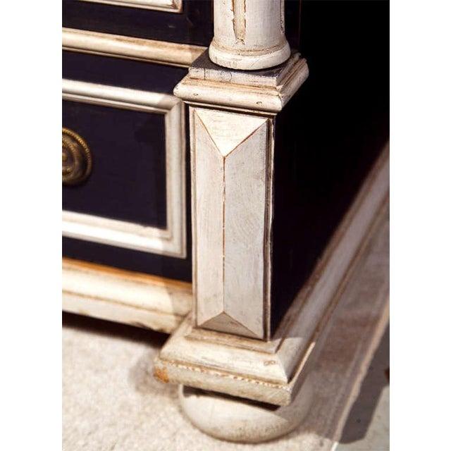 Brass Swedish Gustavian Style Secretary Drop-Front Desk For Sale - Image 7 of 10