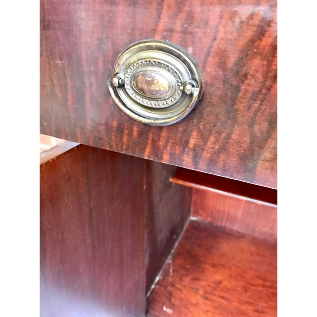 Antique Mahogany China Cabinet For Sale - Image 9 of 12