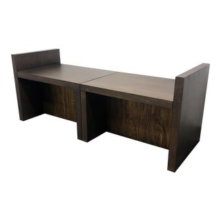 Baker Milling Road Better Together Bench in Walnut by Kara Mann - Pair For Sale