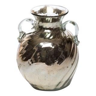1980's Mercury Glass Urn Vase For Sale