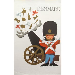 1960s Original Vintage Danish Travel Poster, Denmark (National Guard) Small Size For Sale