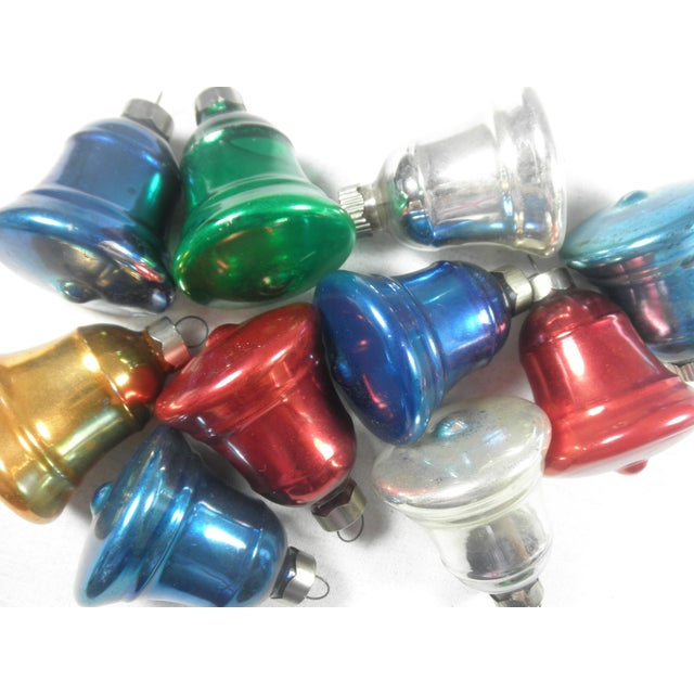 Multi-Colored Glass Bell Ornaments - Set of 10 - Image 4 of 5