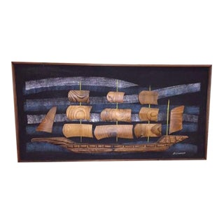 Witco Wilrongo Wood Craft Sailing Ship Art