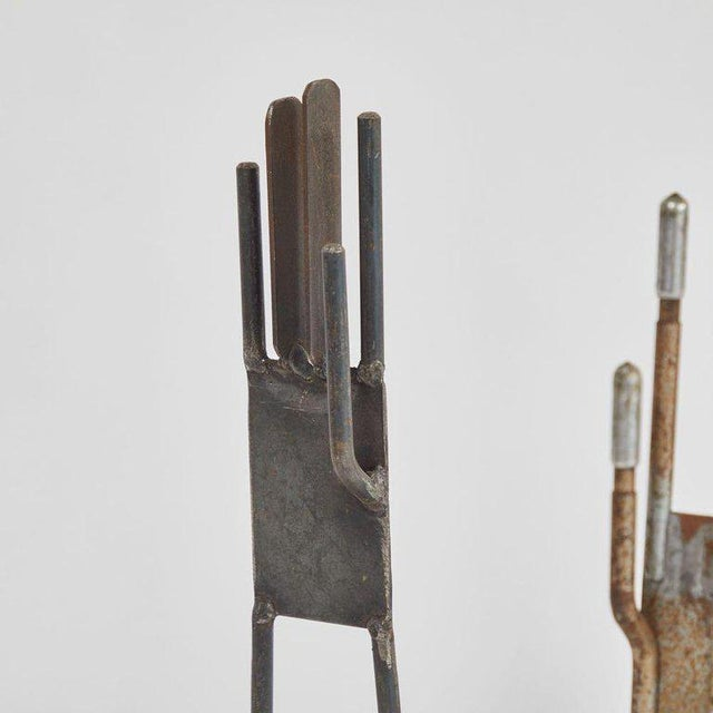 Industrial Glove Molds in Black Metal - a Pair For Sale - Image 3 of 5