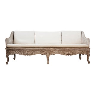 Swedish Rococo Painted Sofa For Sale