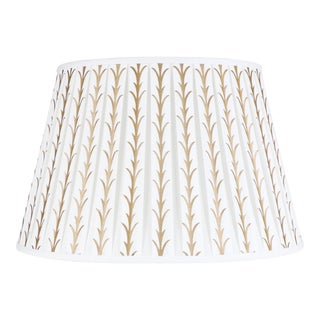 "Acanthus Leaf Printed Shade 14"" Ivory For Sale"