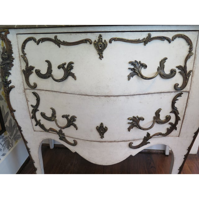 19th Century Rococo Painted Commode For Sale In Houston - Image 6 of 9