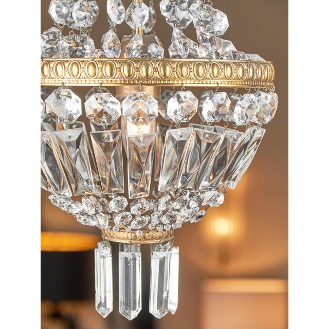 Empire Antique French Empire Style Crystal Chandelier For Sale - Image 3 of 7