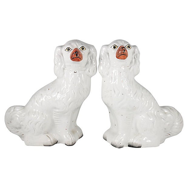 Staffordshire Antique English Staffordshire Dogs - a Pair For Sale - Image 4 of 4