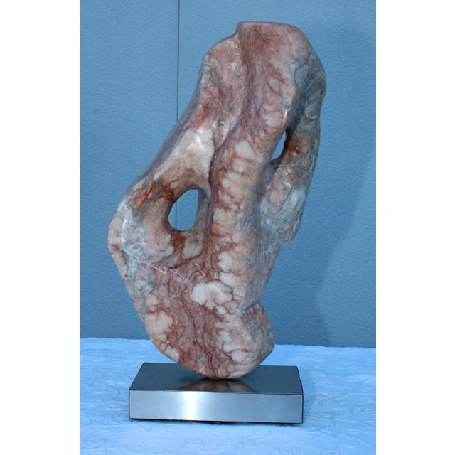 Mid-Century Modern Abstract Marble Sculpture For Sale - Image 9 of 13