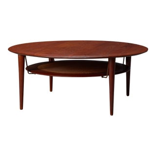 Peter Hvidt & Orla Mølgaard Nielsen for France & Son Round Sofa Table For Sale