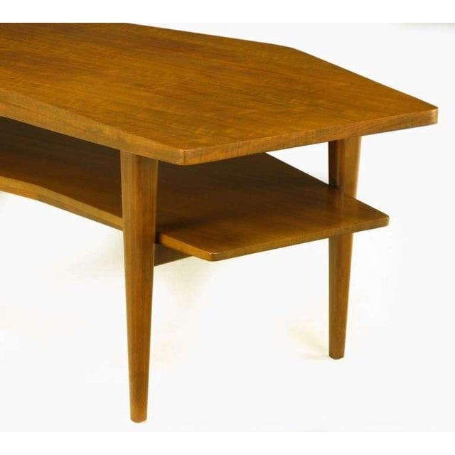 M.Singer & Sons Angled Italian Walnut Coffee Table - Image 8 of 9