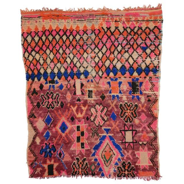 1960s Vintage Berber Moroccan Rug - 5′4″ × 6′2″ For Sale - Image 9 of 9