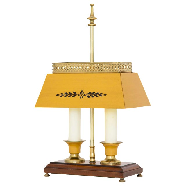Yellow Bouillotte Lamp For Sale