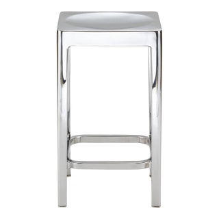Emeco Counter Stools in Polished Aluminum by Philippe Starck (Pair) For Sale