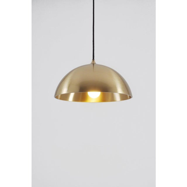 Mid-Century Modern Duos 36 Pendant Lamp With Side Pull in Brass by Florian Schulz, Germany For Sale - Image 3 of 5