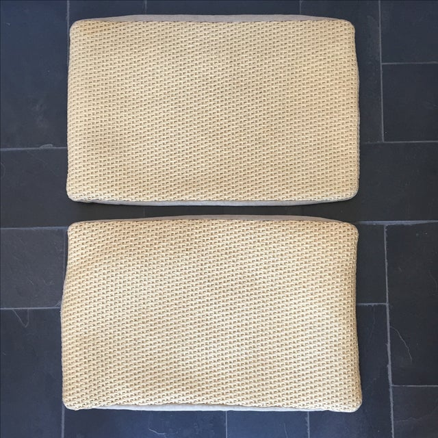 Williams Sonoma Woven Linen Pillow Covers - A Pair - Image 7 of 8
