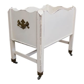 Vintage White Magazine Holder