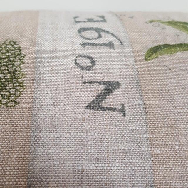 Green Botanical Bolster Pillow For Sale - Image 10 of 11