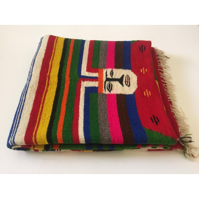 Vintage Mexican Zapotec Pictorial Rug At 1stdibs: Vintage 1960's Hand Woven Mayan Zapotec Mexico Wool