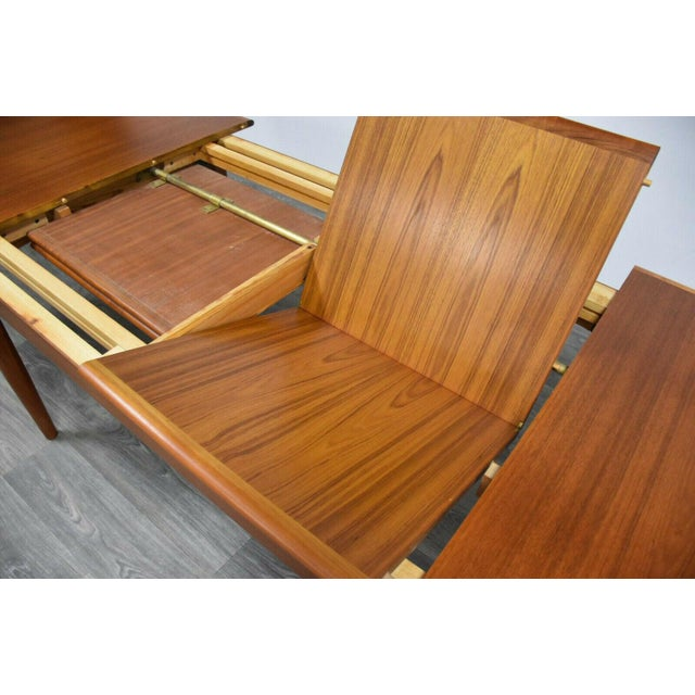 Wood Danish Modern Butterfly Leaf Dining Table Made by Falster For Sale - Image 7 of 11
