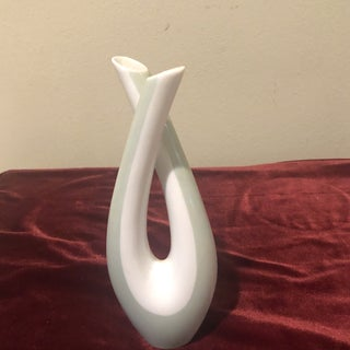 1960s Contemporary Green and White Rosenthal Porcelain Vase Preview