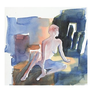 Nude Watercolor Study For Sale