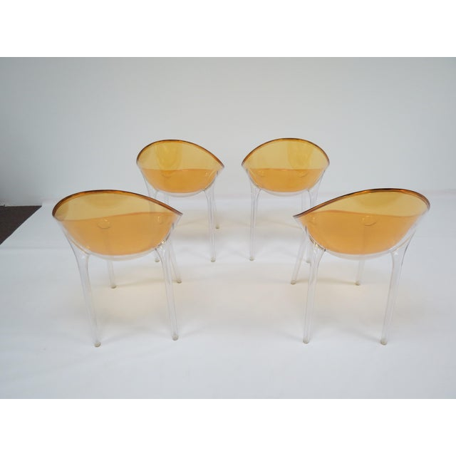 Kartell 1990s Philippe Starck Kartell Mr. Impossible Chairs- Set of 4 For Sale - Image 4 of 9