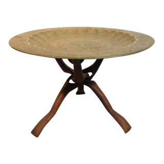 1960s Moroccan Tea Table With Folding Legs For Sale