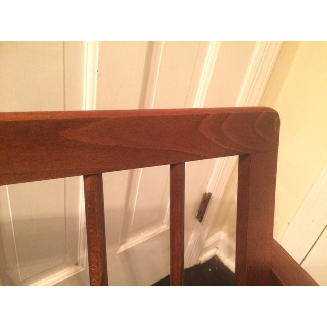 Mid-Century Low-Slung Wood Arm Chair For Sale - Image 11 of 11