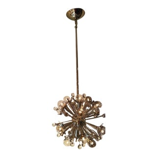 Jonathan Adler Robert Abbey Mini Sputnik Polished Nickel Chandelier For Sale