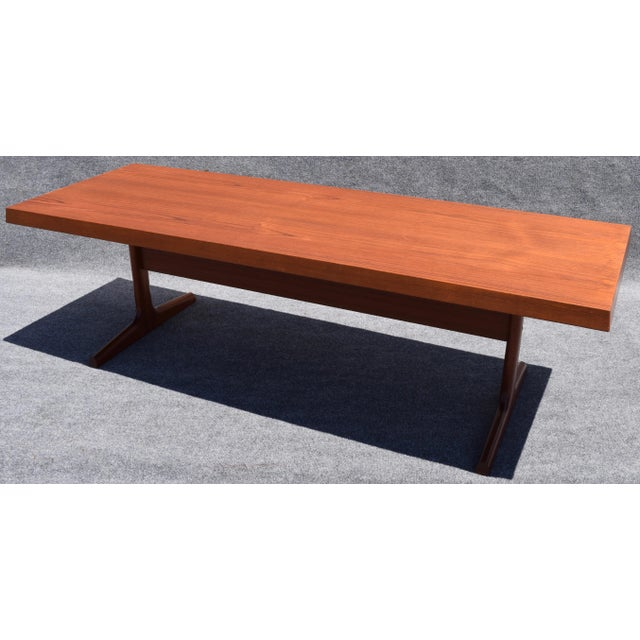 Vintage Danish Mid Century Modern Large Teak Coffee Table ...