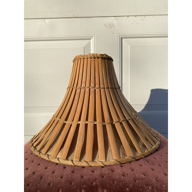 Mid 20th Century Rattan Tiki Lamp Shade For Sale In Milwaukee - Image 6 of 6