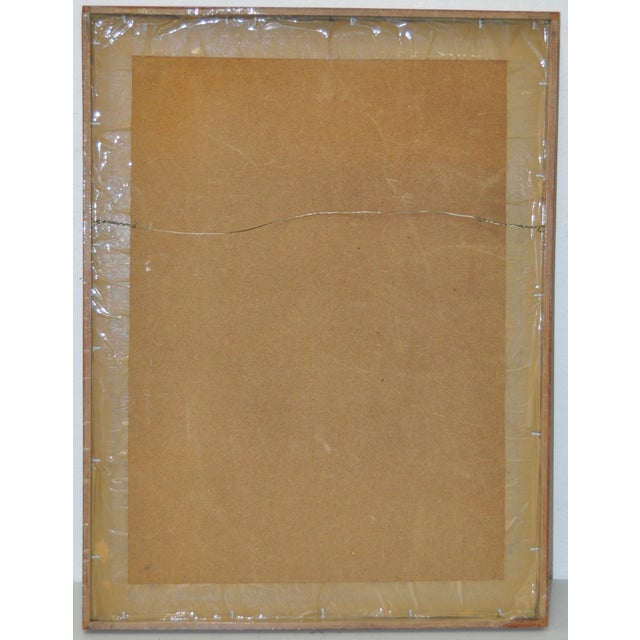 Vintage 1970s Abstract Painting For Sale - Image 5 of 5