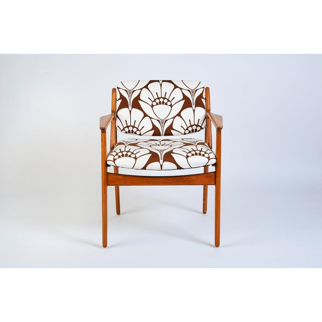 1950s Mid-Century Modern Teak Side Chair With Tipping Back For Sale - Image 5 of 5