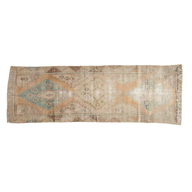 "Vintage Distressed Oushak Rug Runner - 3'2"" X 9'2"" - Image 11 of 11"