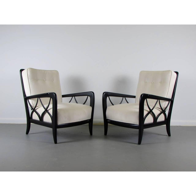 1950s Paolo Buffa Style Lacquered Italian Lounge Chairs - A Pair - Image 8 of 8