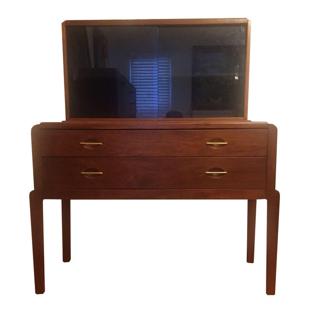 Art Moderne Two-Piece Breakfront Hutch - Image 1 of 11