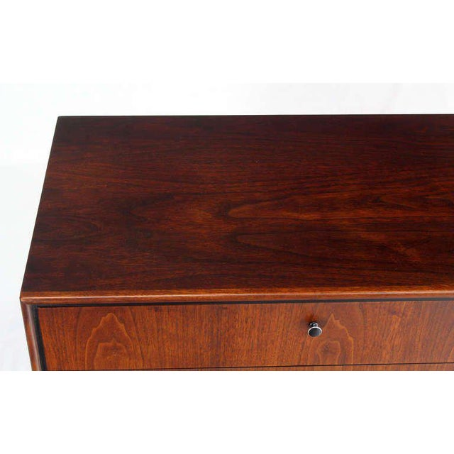 Walnut Mid-Century Danish Modern Walnut Long Dresser Credenza For Sale - Image 7 of 10