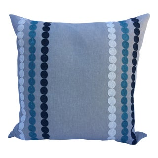 "Handmade Modern 24"" Square Pillow For Sale"