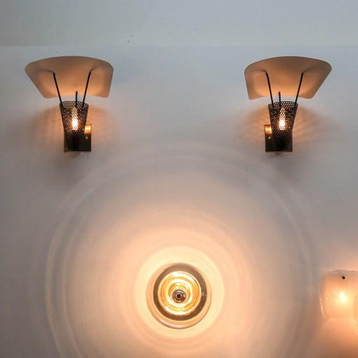 Gold Jacques Biny Wall Lamps - A Pair For Sale - Image 8 of 10