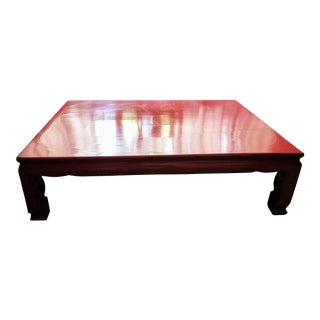 Antique Chinese Red Lacquer Table For Sale