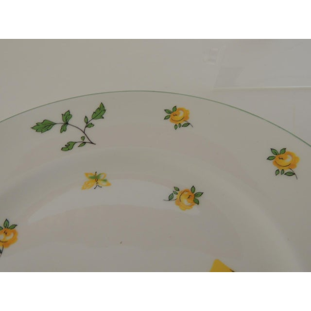 Royal Victoria English White and Yellow Bone China Dessert Plate For Sale - Image 4 of 6