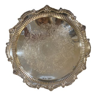 W & S Blackinton Vintage Silver Plate Serving Tray For Sale