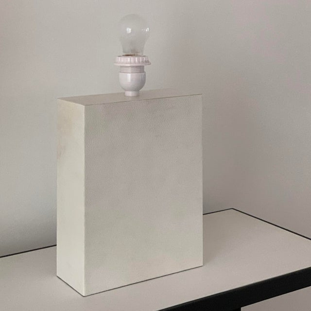 2020s Large 'Bloc' Parchment Table Lamp by Design Frères For Sale - Image 5 of 7