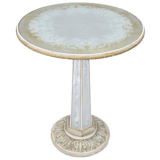 Italian Églomisé Occasional Pedestal Table For Sale